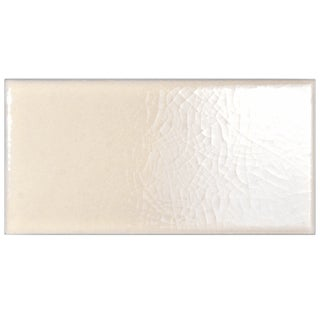 SomerTile 3x5 7/8-inch Grieta Pergamon Ceramic Bullnose Trim Tile (Pack of 8)