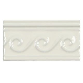 SomerTile 3x5 7/8-inch Travessa Olas Pergamon Ceramic Trim Tile (Pack of 8)