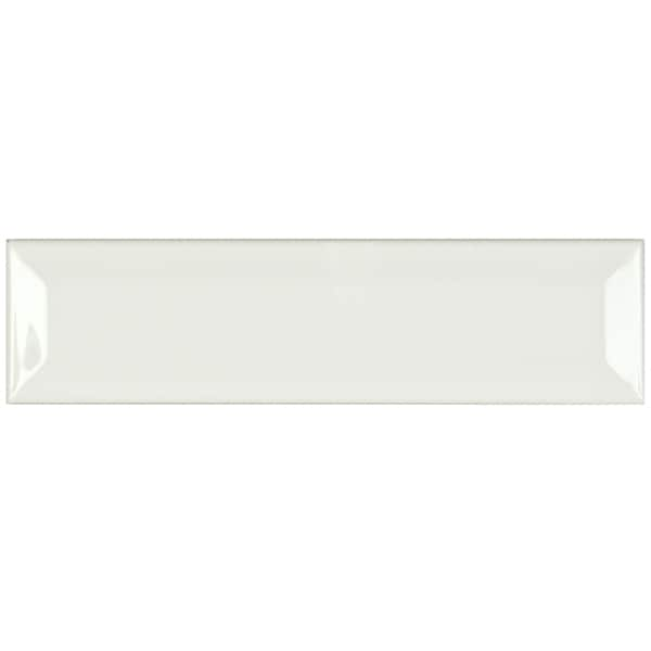 SomerTile 2 x 8-inch Travessa Biselada Blanco Ceramic Wall Tile (Case of 58)