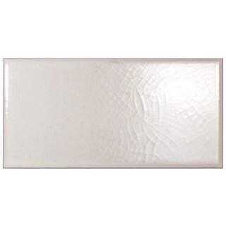 SomerTile 3x5 7/8-inch Grieta Blanco Ceramic Bullnose Trim Tile (Pack of 8)