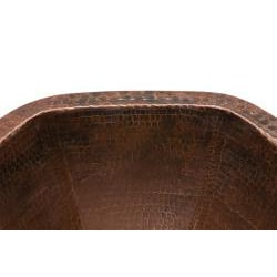 Premier Copper Products Hexagon Under Counter Hammered Copper Sink