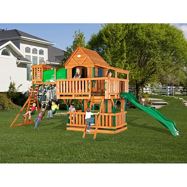 backyard discovery woodridge all cedar swing set 14335263