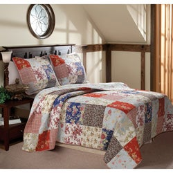 Amelia Quilted 3-piece Bedspread Set
