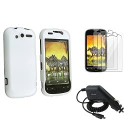White Case/ Car Charger/ LCD Protectors for HTC MyTouch 4G