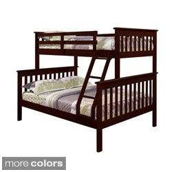 Mission Twin / Full Bunk Bed in Cappuccino