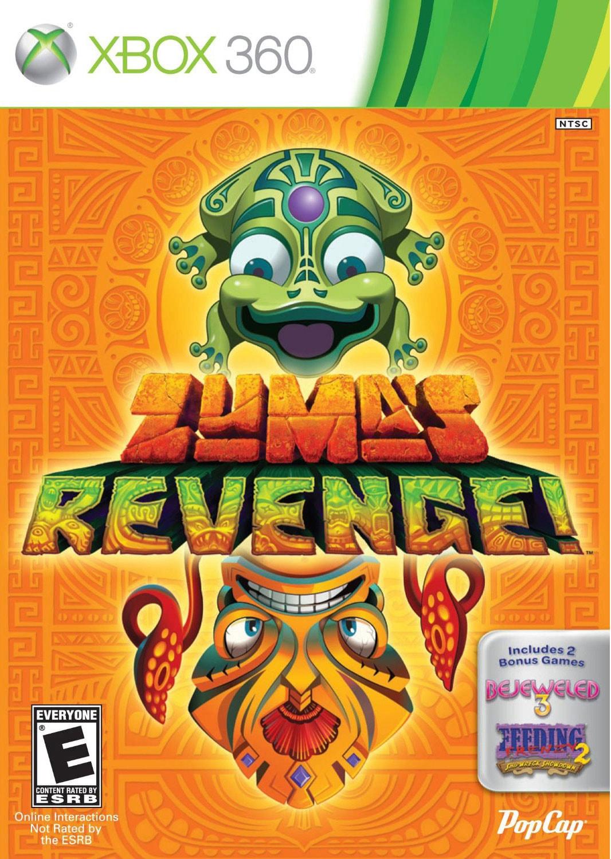 Xbox 360 - Zuma's Revenge! with Bejeweled 3 and Feeding Frenzy 2
