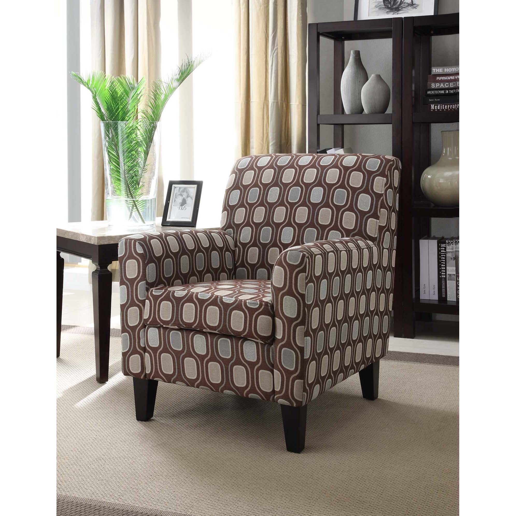 Cream Circle Fabric Design Club Chair