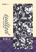 Holy Bible: New International Version, Black Floral Flexcover, Quilted Collection Bible (Paperback)