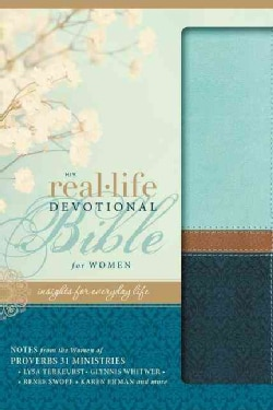 NIV Real-Life Devotional Bible for Women: New International Version, Sea Glass / Deep Sea, Italian Duo-Tone, Insi... (Paperback)