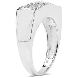 Malaika 14k Gold over Sterling Silver 1/4ct TDW Diamond Ring (I-J, I3)