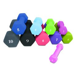CAP Barbell 9 Pound Cast Iron Neoprene Dumbbell