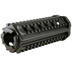 Classic AR15 MP 4 Sided Polymer M4 Rail in Black