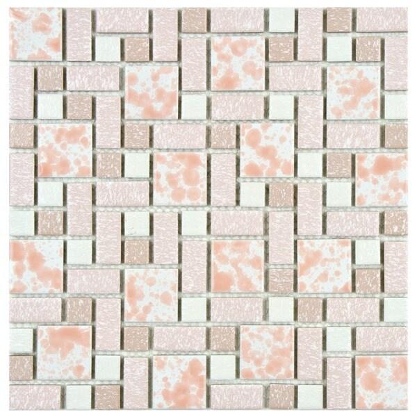 Somertile academy pink porcelain floor for 10 inch floor tiles