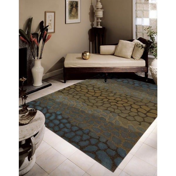 "Nourison Hand-tufted Dimensions Multicolor Animal-Pattern Rug (7'6"" x 9'6"")"