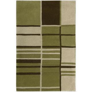 Nourison Hand-tufted Dimensions Green Rug (7'6 x 9'6)
