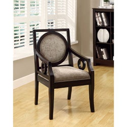 Brown Velvet/Cappuccino Solid Wood Accent Chair