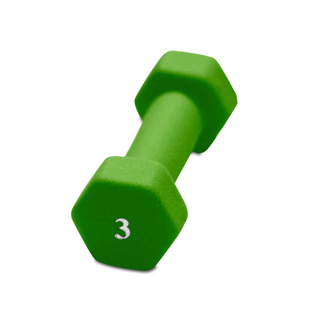 CAP Barbell 3 Pound Cast Iron Neoprene Dumbbell