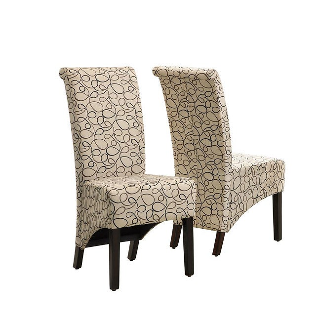 Monarch Tan Swirl Parson Chair (Set of 2) at Sears.com