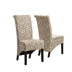 Tan Swirl Parson Chair (Set of 2)