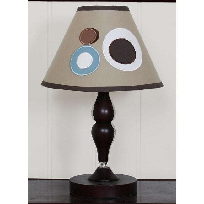 Blue Brown Scribbles Lamp Shade