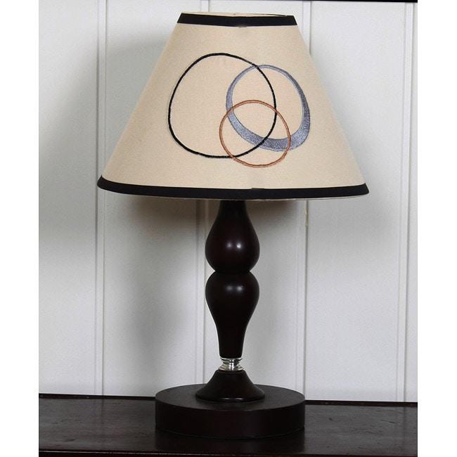 Grey Brown Scribbles Lamp Shade