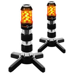 Trademark Tools 2 piece Roadside Electronic Flash Flares - Black
