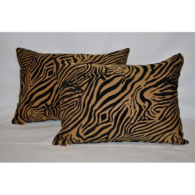 Sherry Kline Jungle Zebra Boudoir Pillow (Set of 2)