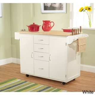 Utility Wood Top Kitchen Cart