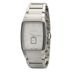Skagen Men's Black Label Rectangle Stainless Steel Link Watch