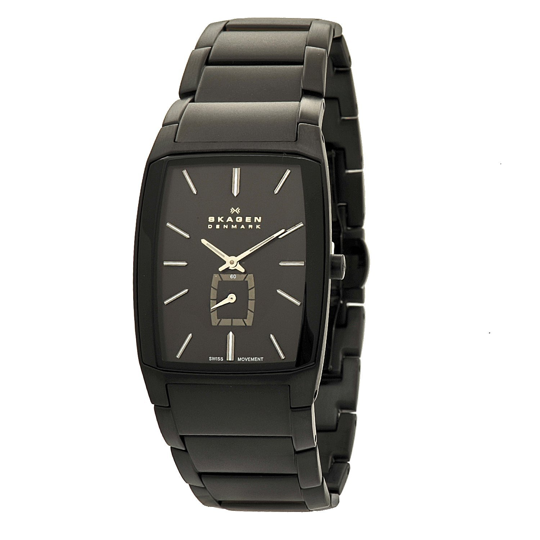 Skagen Men's 984XLBXB Black Label Rectangle Link Bracelet Watch