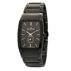 Skagen Men's 984XLBXB Black Label Rectangle Link Bracelet Watch