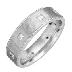 14k White Gold Men's 2/5ct TDW Diamond Wedding Band (G-H, SI1-SI2)
