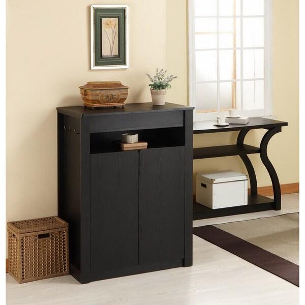 Furniture of America Atlas Shoe Cabinet/ Multi-Purpose Chest with Mirror