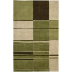 Nourison Hand-tufted Dimensions Green Rug (3'6 x 5'6)
