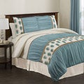 Lush Decor Aurora 4-piece King/Cal King-size Comforter Set