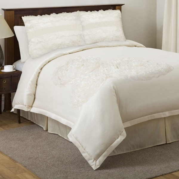 lush decor la sposa ivory 4 piece king cal king size comforter set