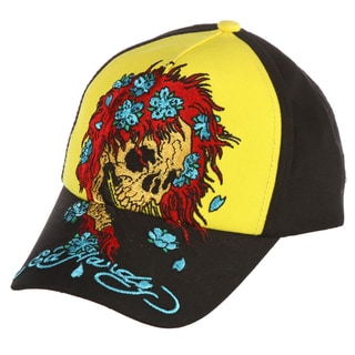 Ed Hardy Boys' 'Skull Wig' Embroidered Hat