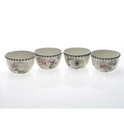 Certified International 'Marche De Fleurs' Ice Cream Bowls (Set of 4)