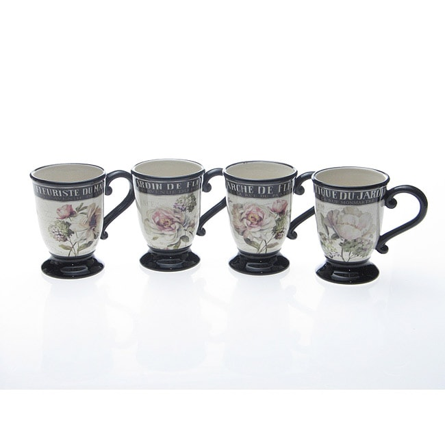 Certified International 'Marche De Fleurs' Mugs (Set of 4)