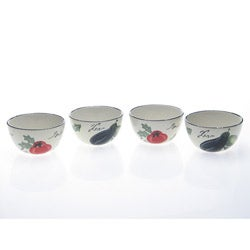 Certified International Melanzana Ice Cream Bowls (Set of 4)