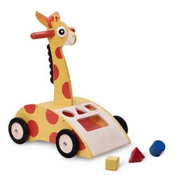Wonderworld Giraffe Walker 'n Shape Sorter Baby Developmental Toy