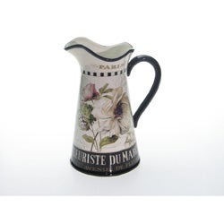 Certified International Marche De Fleurs Pitcher