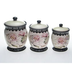 Certified International Marche De Fleurs Canister Set (Set of 3)