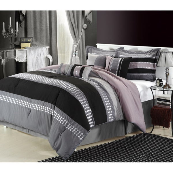 Castle Rock Grey 8-piece Comforter Set