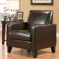 Abbyson Living Frankfurt Dark Brown Bi-cast Leather Armchair
