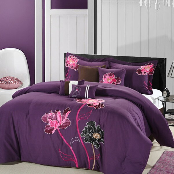 Orchid Plum 8-piece Comforter Set