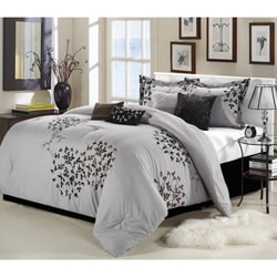 Cheila Grey/Black 8-piece Comforter Set
