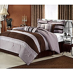 Castle Rock Brown 8-piece Comforter Set