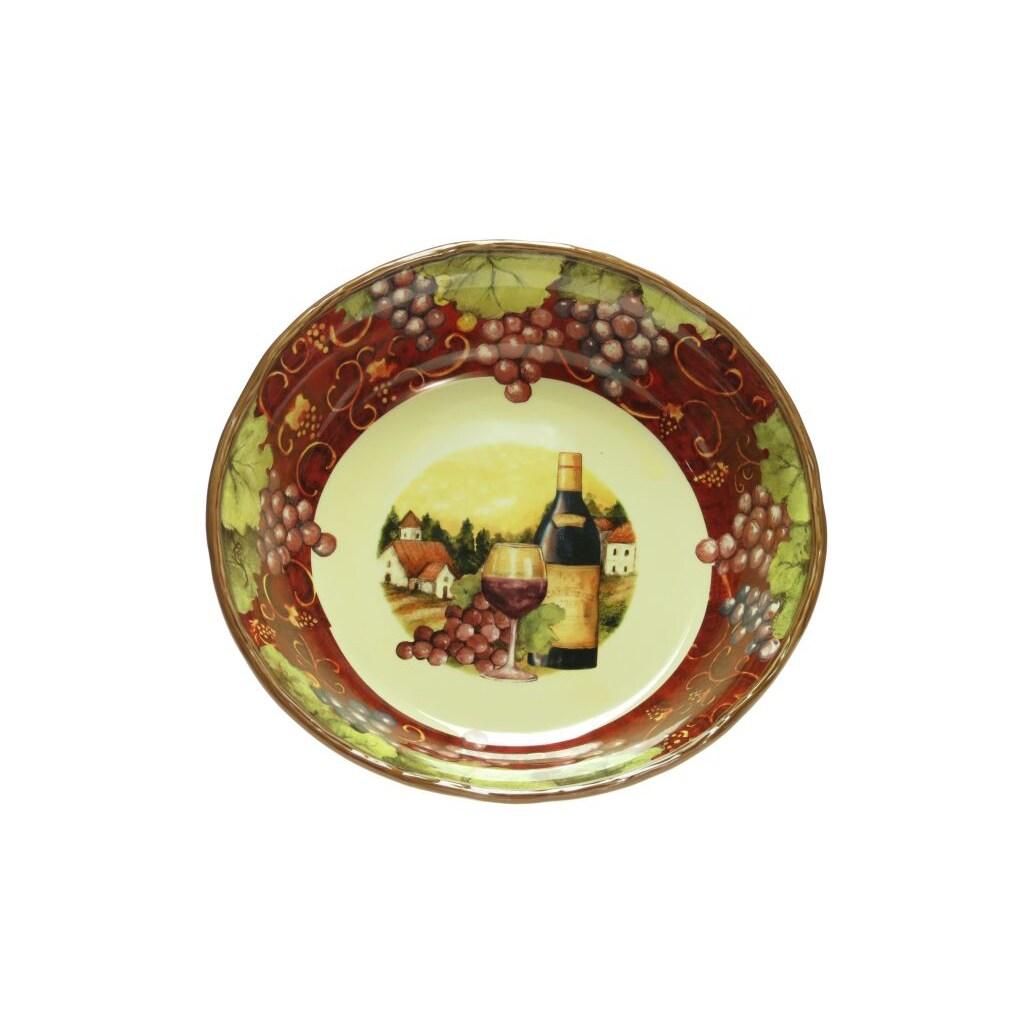 Certified International 'Merlot Sunset' Pasta/Serving Bowl