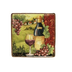 Certified International 'Merlot Sunset' Square Platter